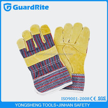 "GuardRite brand 10.5"" pig split leather working welding gloves importer in italy"