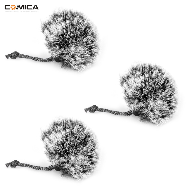 COMICA High-quality Furry Outdoor Microphone Wind Muff for Compact Lapel Lavalier Mics