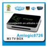 android tv box amlogic m3 android 4.0 tv box A9 1.5ghz 1g/4g support DVB-T