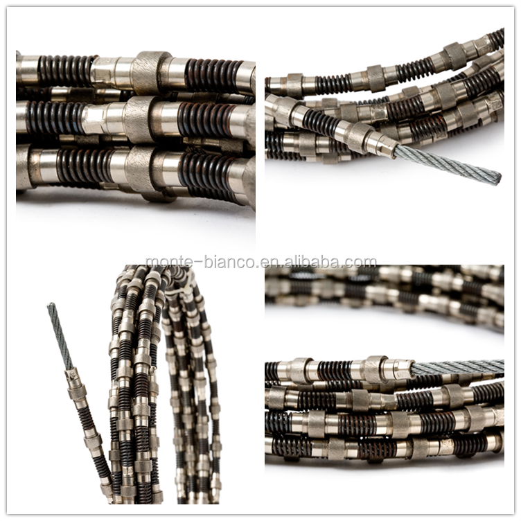 Small Diamond Wire Saw For Granite Sintered Beads Cutting Rope ...