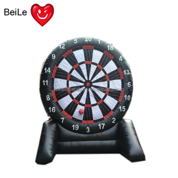 Hot sale PVC inflatable football dart target