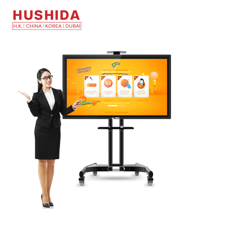 10 touch punt LCD interactieve touch screen monitor 55 inch all in one PC TV onderwijs smart board