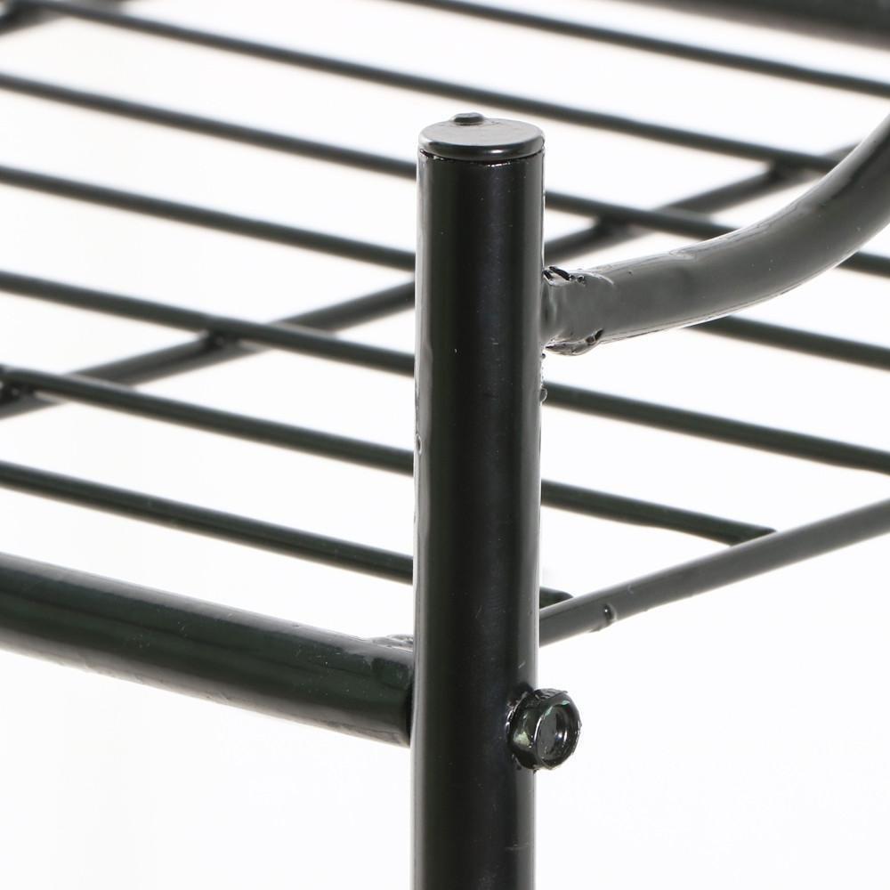3 Rak Besi Hitam Dapur Tukang Roti Dalam Ruangan Pabrik Berdiri Meja Samping Tempat Tidur