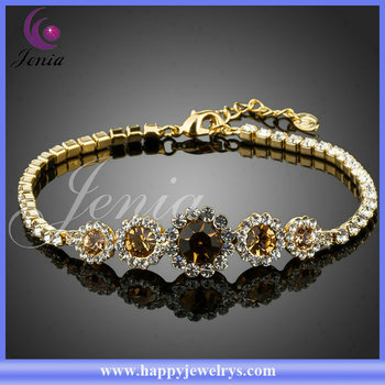 Clical Design Top Quality Beautiful Bracelet With Crystal Gold Designs Men Xh014