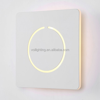 Modern Acrylic Wall Lamp Square Led Wall Sconce For Bedroom Or ...