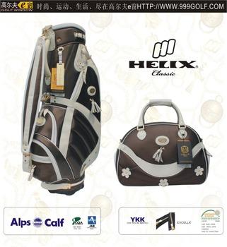 Helix ladies design PU golf bag with shoe bag  women golf bag with boston  bag 159352a16e