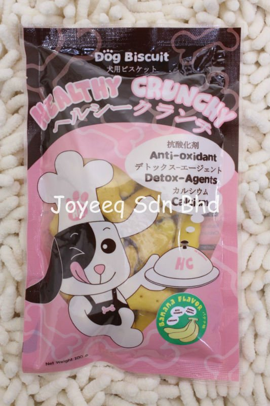 Healthy Crunchy Dog Biscuits, Pet Food, Treats, Snacks, Banana Flavour, Distributor Wanted, OEM