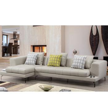 grijze kleur moderne woonkamer meubels bank echt leder sofa mooie