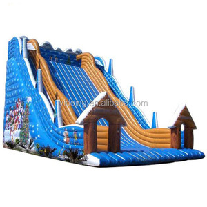 Christmas theme giant inflatable slide for kids and adult C1011
