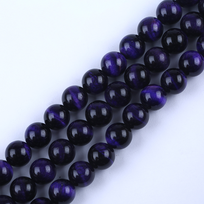 Whole purple tiger eye stone natural gemstone bead