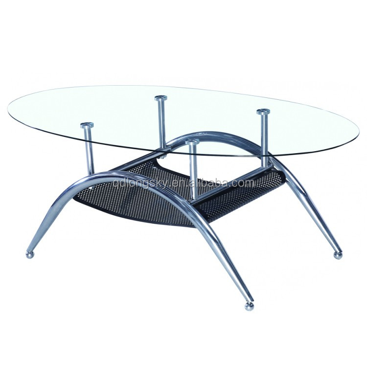 Ls1010 Glass Top Center Table Design Wholesale Modern Coffee