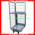 Nest Away Folding Truck Rolling Pallet Cage Trolley for Sales