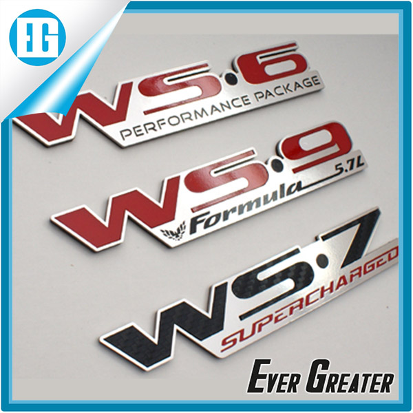 custom metal aluminum car emblem badge logo