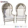 Classic French Style High Back Canopy Chair, Upholstered Living Room Canopy Chair (OZ-SW-108)