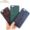 New fashion phone cover for iphone with customize logo real ostrich leather cell phone case for iphone 7 plus