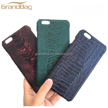 new fashion phone cover for iphone with customize logo real ostrichnew fashion phone cover for iphone with customize logo real ostrich leather cell phone case for