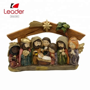2018 Hot-selling Christmas Decorative Resin Jesus Statue Religious Nativity Set