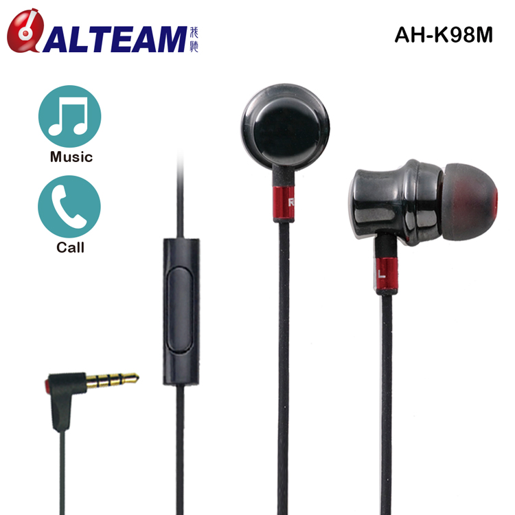 OEM Ceramic Balanced Armature 3.5mm mp3 Earphone with Microphone