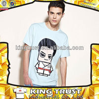 Knitted man printed t shirts wholesale urban clothing