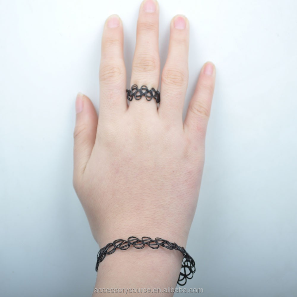 fashion plastic bracelets cheap, black elastic bracelet,Fashionable plastic tattoo bracelets
