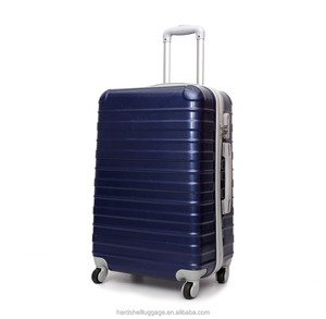 46e9b7f608 Factory Supply Pearl Blue Elegant Polo ABS PC Trolley Luggage Set