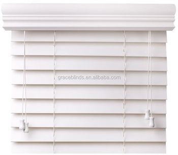 cheap faux wood blinds 2 inch China supplier