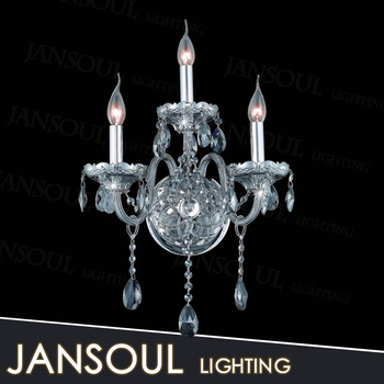 Chinese Por Famous Brand 3 Candle Holder Green Crystal Chandelier Vintage Clic Home Wall Lamp