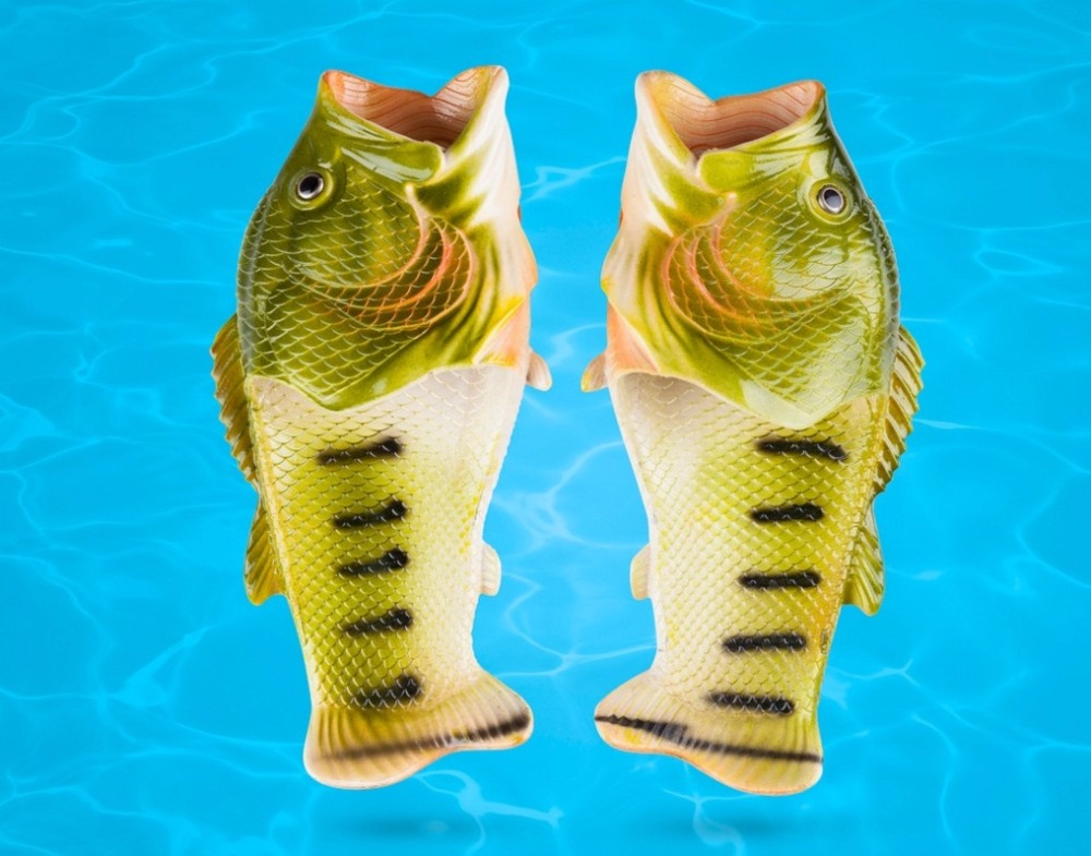 Fish mouth slippers/New Style Fish EVA Slipper/Summer Beach Sandals Simulation Fish Beach Slippers