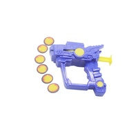 promotional plastic gun flying disc shooter disc launcher toy for kids