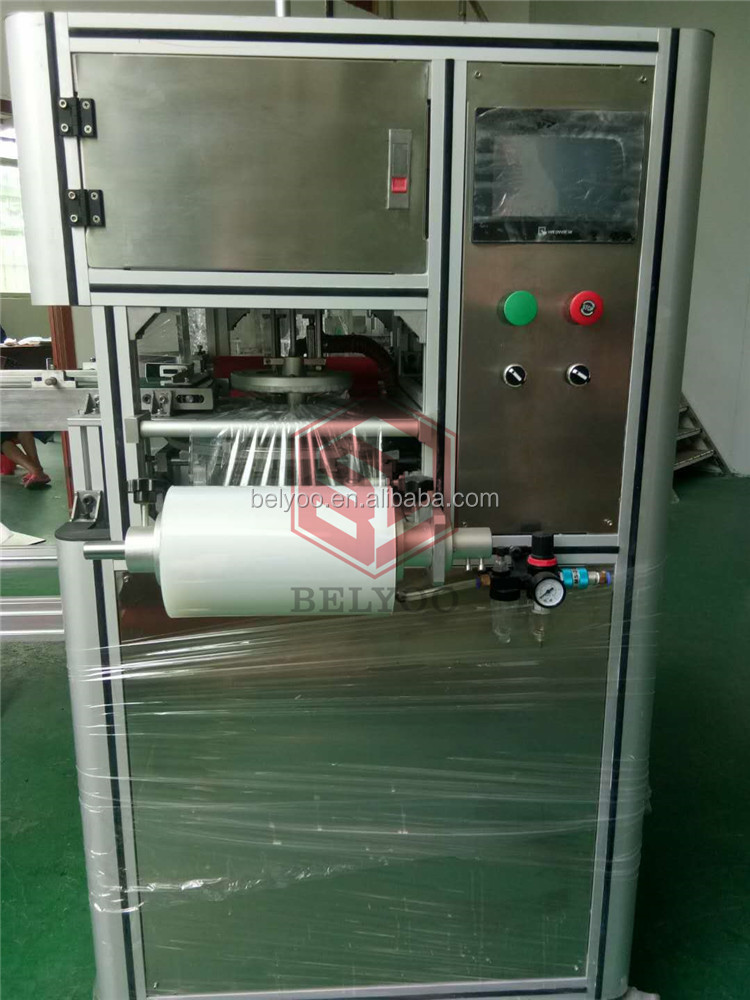 stainless steel automatic soap cling film wrapping machine/Electric oval soap wrapper