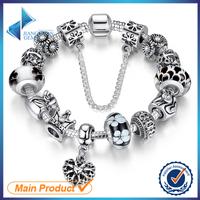 Stock alloy glass beads cheap handmade bracelets
