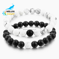 Custom Handmade fashion Relationship couple Natural stone beaded Love Distance bracelets