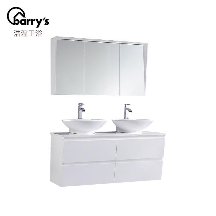 European Style Modern Wall Mounted Double Sink Bathroom Vanity With