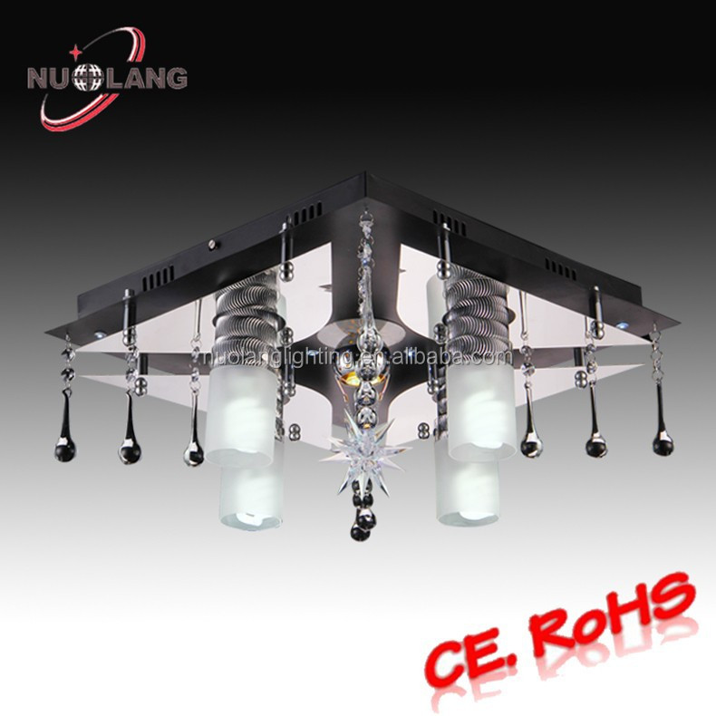 luxury crystal clear ceiling lighting
