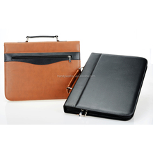 A3 size leather portfolio bag,leather portfolio case folder