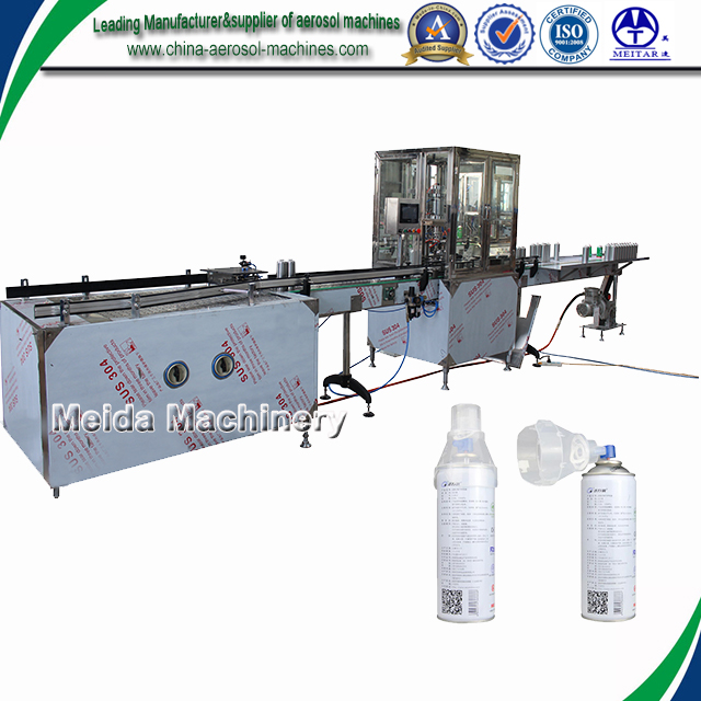 Full automatic aerosol gas filler/medical oxygen filling equipment