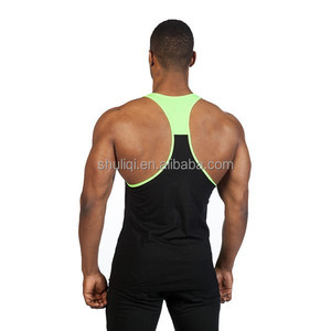 Fit Stringer with Grey Marl/Neon, Made in China stringer tank top with two tone