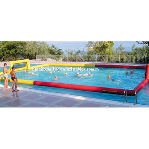 fun water games floating inflatable water volleyball court in the pool
