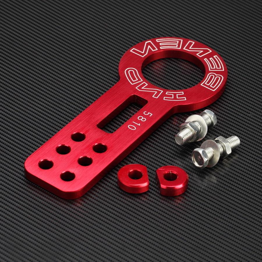 Гонки анодированный красный алюминиевых заготовок JDM универсальный передний буксирный крюк комплект с чпу JDM