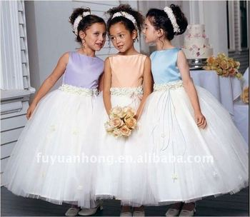 3281b0ea979 Color Combination Flower Girls Dress Fyh-la075 - Buy Girls Dresses ...