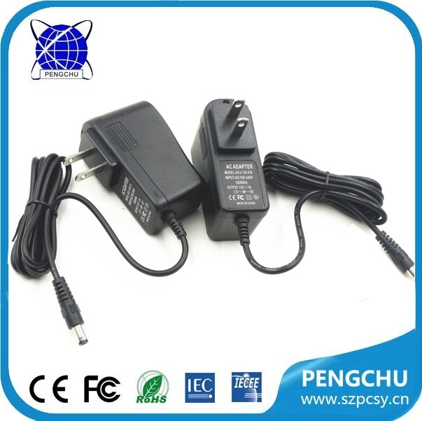 high quality 12v dc power adapter output 12 volt charger 1a
