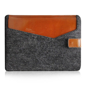 China supplier 13 inch felt folder with pen container soft felt tablet case