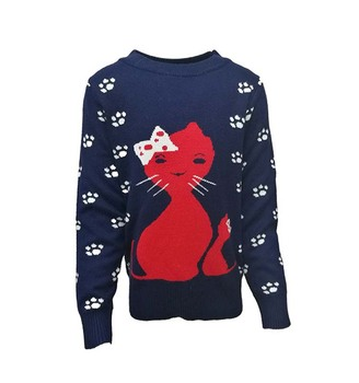 Childrenfashion Wool Handmade Style New Sweater Design For Girl