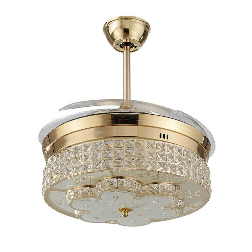 Lighting Fans 42 Invisible Ceiling Fan Modern Crystal