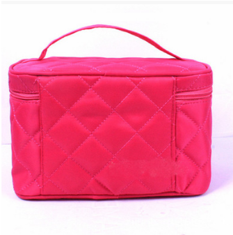 Custom quilt Zipper Cosmetic Bag case for women