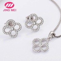 Nice-looking 925 silver jewelry cubic zircon jewelry women set