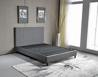 Foshan modern Fabric wooden bed frame can be knocked down