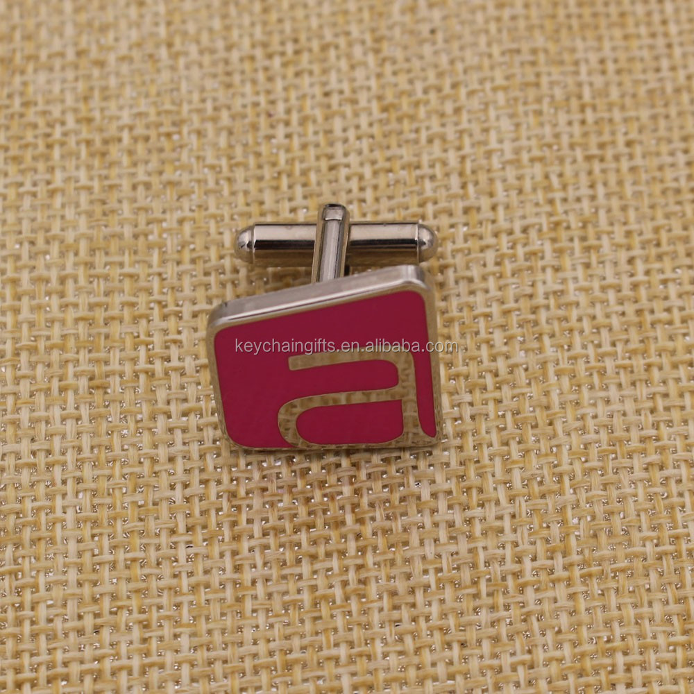 Promotion stainless steel cufflink blanks manufacture with gift box