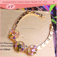 Wholesale 2016 Zircon Fashion Luxury colombian handmade 18K gold plated jewelry bracelets for womens