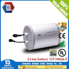 Internal PCB protection 2000 cycles lithium ion 12v 100ah solar battery /LYLIAL12V100B507